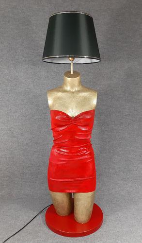 001 LAMPADA CORPO DONNA BUSTO 51BST - Lampada busto a forma di donna con paralume