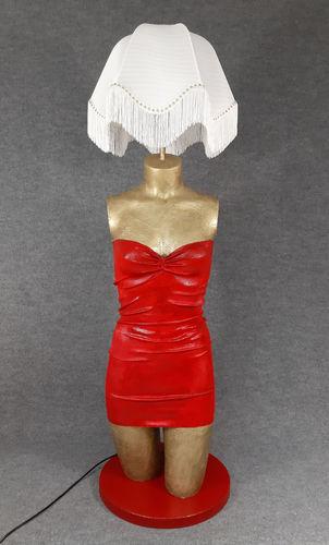 001 LAMPADA CORPO DONNA BUSTO 52BST - Lampada busto a forma di donna con paralume