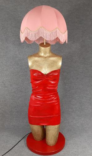 001 LAMPADA CORPO DONNA BUSTO 53BST - Lampada busto a forma di donna con paralume