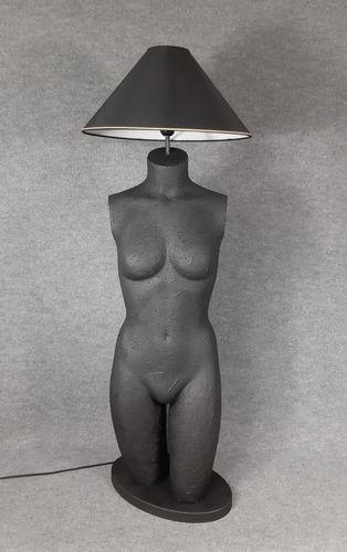 001 LAMPADA CORPO DONNA BUSTO 7BST - Lampada busto a forma di donna con paralume