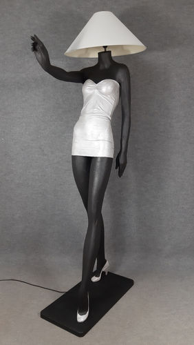 001 LAMPADA CORPO DONNA LADY 1M - Lampada a forma di donna con paralume