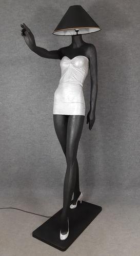 001 LAMPADA CORPO DONNA LADY 3M - Lampada a forma di donna con paralume