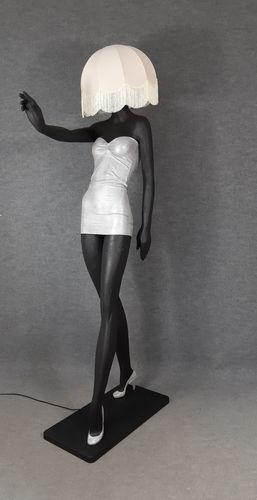 001 LAMPADA CORPO DONNA LADY 6M - Lampada a forma di donna con paralume