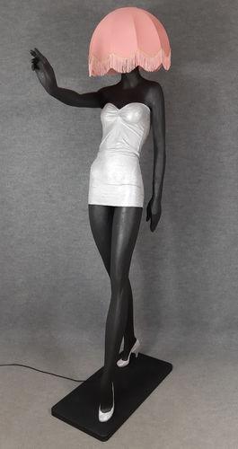 001 LAMPADA CORPO DONNA LADY 7M - Lampada a forma di donna con paralume