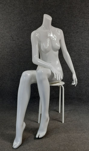 001 MANICHINO 133D - Manichino seduto senza testa da donna