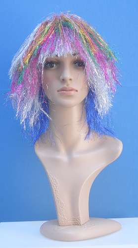 001 SC0136 - Parrucca colorata argentata