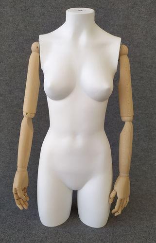 001 TS05BL - Torso donna pvc braccia di legno
