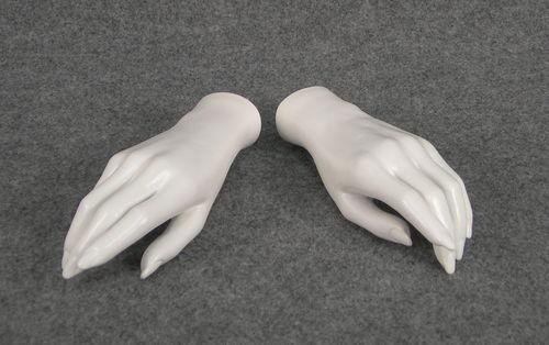 011 COPPIA MANI D 3 - Coppia di mani in PVC da donna