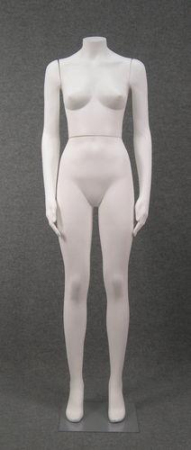 011 DONNA S005 - Manichino in plastica donna senza testa, braccia diritte