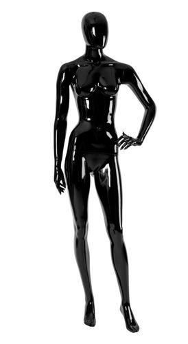 011 MD EGGD 02A - Manichino stilizzato testa a uovo laccato lucido donna