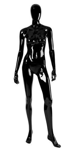 011 MD EGGD 03 - Manichino stilizzato testa a uovo laccato lucido donna