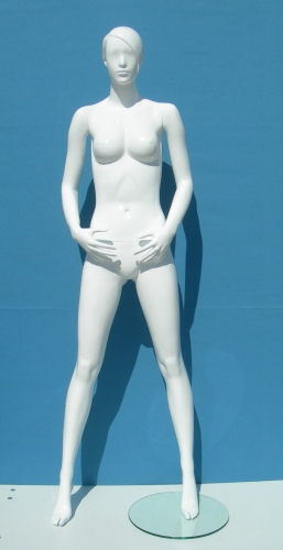 011 MD SCOD 112BI - Manichino stilizzato laccato lucido donna.