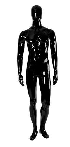 011 MU EGGU 09 - Manichino stilizzato testa a uovo laccato lucido uomo