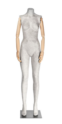 011 SCA05BL - Manichino per abbigliamento donna cartapesta braccia legno