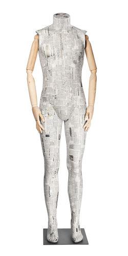 011 SCA06BL - Manichino per abbigliamento uomo cartapesta braccia legno