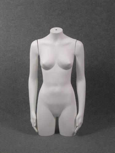 011 TORSO D TS005 - Torso per abbigliamento da donna in plastica con braccia diritte