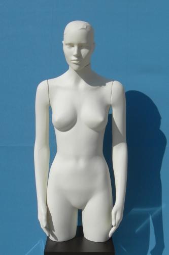 011 TORSO D TS005 TESTA - Torso per abbigliamento da donna in plastica con braccia diritte e testa