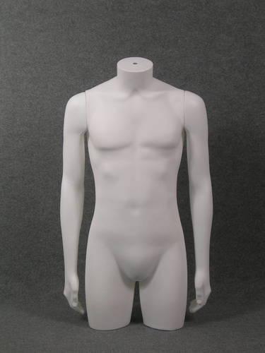 011 TORSO U TS006 - Torso per abbigliamento da uomo in plastica con braccia diritte.