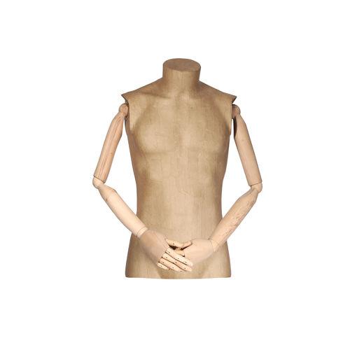 011 TWCA06BL - Busto per abbigliamento uomo cartapesta braccia legno
