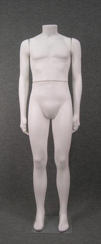 011 UOMO S006 - Manichino in plastica uomo senza testa, braccia diritte