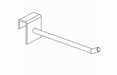 012 AR150FCH - Gancio in filo cm. 15