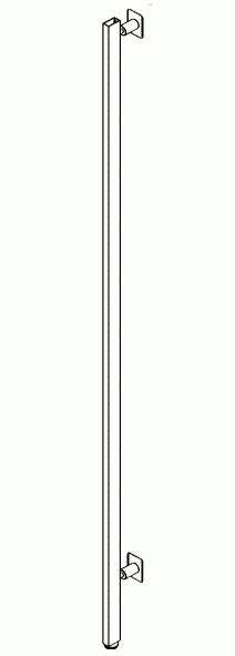 012 AR250CH - Montante con piedini e distanziali H cm.250