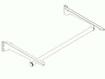 012 AR500AP12CH - Reggimensola cm. 40 con appenderia cm. 120