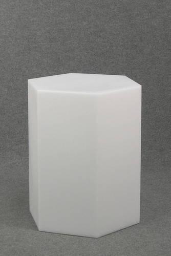 012 ESAGONO55 - Esagono display H cm.55 in plastica