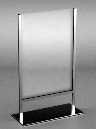012 PORTA CARTELLO AC6CH - Porta cartello AC6CH in metallo