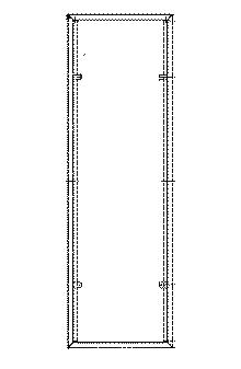012 SPECCHIERA SP50CH - Telaio per specchio a parete cm. 50xH160 (specchi non forniti)