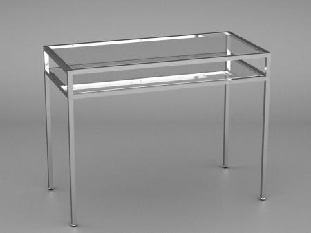 012 TAVOLO 120CH - Telaio per tavolo a 2 piani metallo cromato