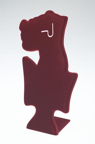 015 119 ESPOSITORE DONNINA GRANDE BOX - Confezione espositore donnina grande in plastica floccato o verniciato 12pz.