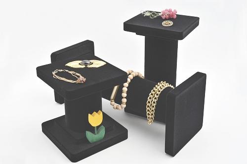 015 121 3 COLONNE BOX - Confezione serie tre colonne in legno e polistirolo floccate o verniciate 6pz.