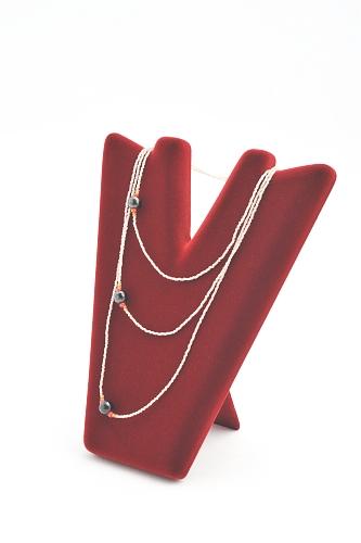 015 144 ESPOSITORE PICCOLO PARIGI BOX - Confezione espositore piccolo parigi per collane in plastica floccato o verniciato 24pz.