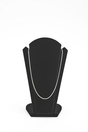 015 159 PORTACOLLANE 1 VENTAGLIO BOX - Confezione portacollane a ventaglio in legno floccato per 1 collana 24pz.