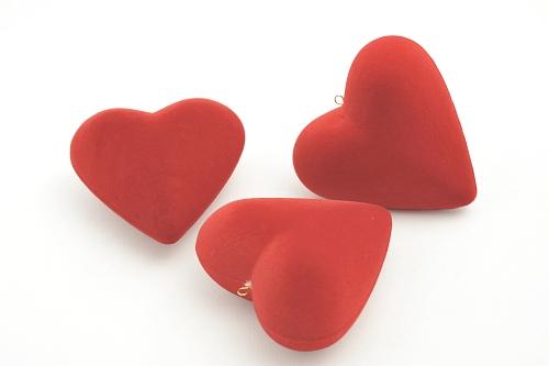 015 182 CUORE BOX - Confezione cuore in polistirolo floccato 120pz.