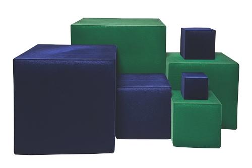 015 28 10 CUBO VELLUTATO BOX - Confezione cubo vellutato lato 10cm. 30pz.