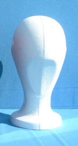 015 2 TESTINA UNISEX GREZZA BOX50 - Confezione confezione testina in polistirolo per parrucche e cappelli pz. 50