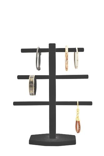 015 619 ESPOSITORE BRACCIALI BOX - Confezione espositore per bracciali in legno floccato o verniciato 10pz.