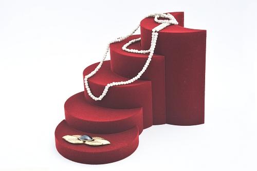 015 62 ESPOSITORE MEZZA LUNA BOX - Confezione espositore componibile mezza luna in poliuretano floccato 12pz.