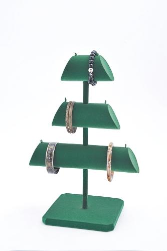 015 68 ESPOSITORE ALBERELLO BOX - Confezione espositore alberello in legno floccato 10pz.