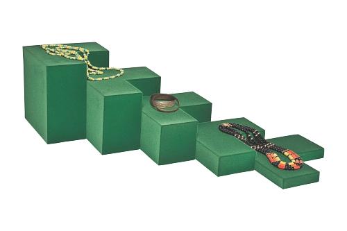 015 70 ESPOSITORE ANGOLARE BOX - Confezione espositore componibile angolare in poliuretano floccato 9pz.