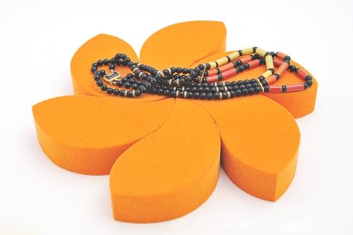 015 74 ESPOSITORE 6 PETALI BOX - Confezione espositore componibile sei petali in poliuretano floccato 15pz.