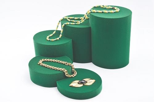 015 76 ESPOSITORE ROTONDA GRANDE BOX - Confezione espositore componibile rotonda grande in poliuretano floccato 12pz.
