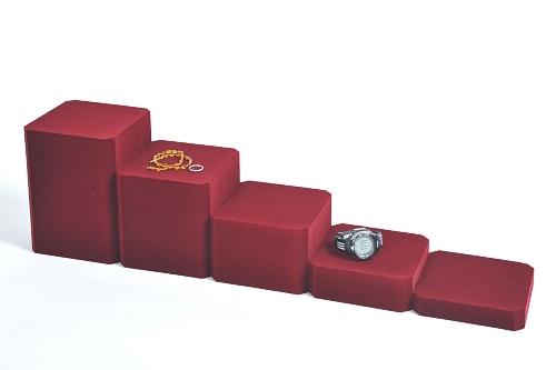 015 78 ESPOSITORE QUADRATA GRANDE BOX - Confezione espositore componibile quadrata grande in poliuretano floccato 12pz.