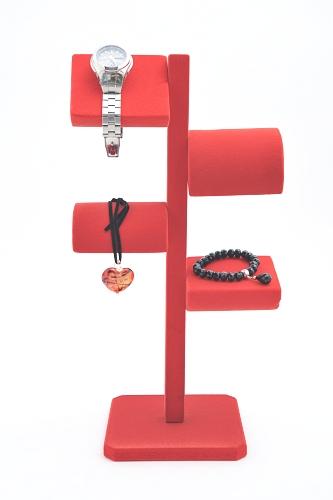 015 83 ESPOSITORE ZETA BOX - Confezione espositore zeta con base e stelo in legno floccato 10pz.
