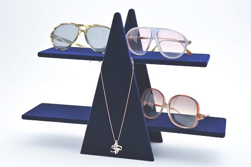 015 84 ESPOSITORE OCCHIALI BOX - Confezione espositore per occhiali in legno floccato o verniciato 12pz.