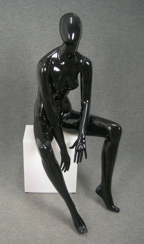 025 ALIX 17 NE - Manichino seduto stilizzato da donna