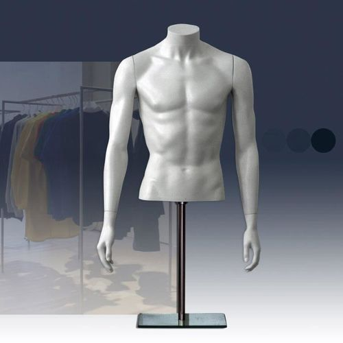 025 BUSTO TMSA1 - Busto in plastica da uomo con braccia senza testa