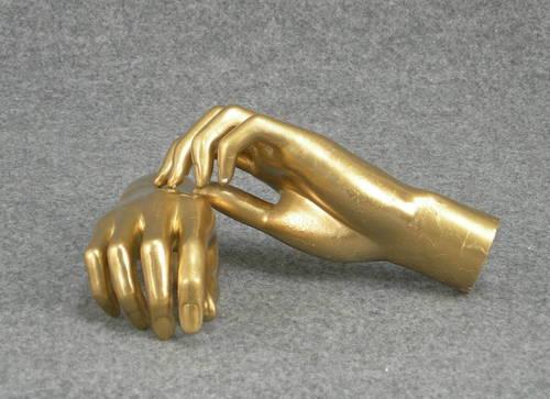 025 COPPIA MANI D AU2 - Coppia di mani in PVC da donna